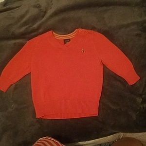 Orange Baby Gap V Neck sweater